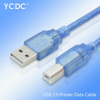 High Speed USB 2.0 Printer Cable A Male to B Male Scanner Data Sync Cord Line 2