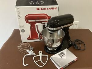 Kitchenaid Artisan Stand Mixer 4.8l Black Used With Box And Instructions
