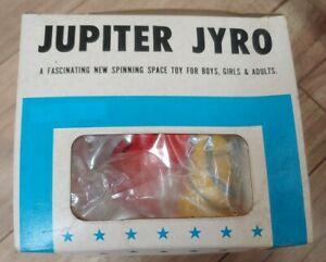 1968 TOMY Jupiter Jyro FLYING SAUCER Deluxe Set Original Box NEW! Made in Japan