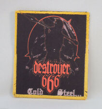 DESTROYER 666 Cold Steel (Printed Small Patch) (New)