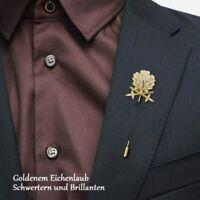 WWII German Oak Leaf Swords Knights with diamonds Iron Cross Bridegroom's Brooch