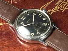 WW2 ZENITH WRIST WATCH DH FROM GERMAN SOLDIER IN BATTLE OF BULGE GI Brought Back
