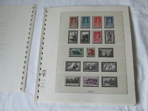 FRANCE 1940-44 STAMP COLLECTION ON LINDNER ILLUSTRATED & HINGELESS ALBUM PAGES