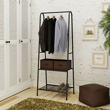 Garment Rack Metal Hanging Clothes Rail Shoe Rack Display Hat Stand Shelf,Black