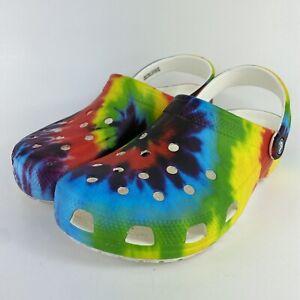 Crocs Classic Clog Rainbow Tye Dye Men's Size 8 Women's Size 10