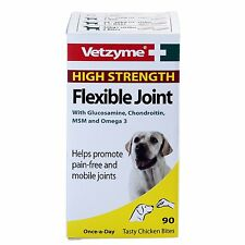 Bob Martin Vetzyme Alta Resistencia flexible conjunto, 90 Tabletas-Cachorro Perro// Animal!