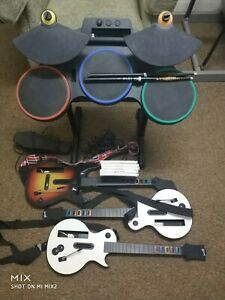Nintendo wii guitar hero complete band bundle plus extra guitars and games