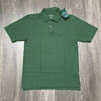 NEW LL Bean Polo Shirt Mens Size Small Green Golf Athleisure Casual