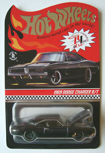2020  HOT WHEELS  RLC  1969  DODGE  CHARGER  R/T  -  BLACK