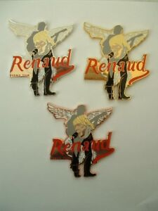 3 PIN'S  RENAUD - PHENIX TOUR - 50 EX NUMEROTE - FOND COULEUR DIFFERENTES