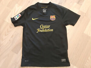 Nike FC Barcelona football away 2011 2012 shirt jersey soccer football M kids