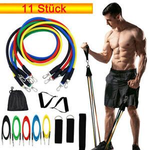 11 Stück Widerstandsbänder Gymnastikband Fitnessbänder Expander Set Neu Yoga DHL