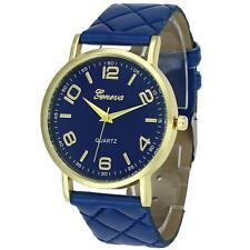 Elegant Women Ladies Watch Geneva Faux Leather Analog Quartz Wrist Watch BU NEW