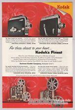 Kodak '50s 8mm Camera Projector Christmas Cine-Kodak Kodascope Print Ad Vtg 1953