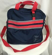 Vintage International Olympic Committee Nylon Bag 1979 Blue Red Carry-on Travel