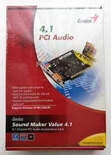 Genius Sound Maker Value 4.1 Channel PCI Audio Acceleration Card
