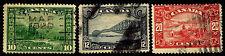 1928-29 CANADA #155-57 COMMEMORATIVES - USED - FINE &  BETTER - $16.00 (E#2315)