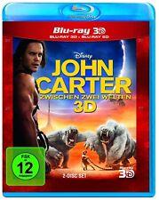 John Carter-entre 2 mondes (incl. 2d Blu-Ray) [3d Blu-ray] * NOUVEAU & NEUF dans sa boîte *