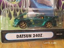 MUSCLE MACHINES Green DATSUN 240Z  SCALE 1/64 (DAMAGED CARD!)