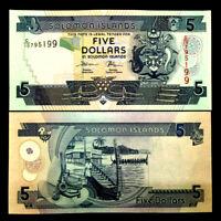 Solomon Islands 5 Dollars Banknote World Paper Money UNC Currency Bill Note