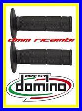 Manopole Cross Domino Tommaselli Moto Scooter Mini Enduro Motard PitBike Nero