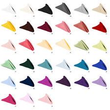 "12 pcs 17""x17"" or 20""x20"" Dinner Napkins, 33 Colors! Premium Quality!"