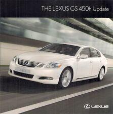 Lexus GS 450h Hybrid 2010-11 UK Market Update Foldout Sales Brochure SE SE-L