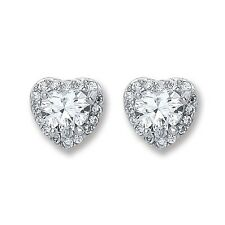 Sterling Silver 8mm CZ Heart Stud Earrings,Butterfly,SER0402