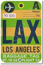 LAX - Los Angeles Airport Baggage Tag - NEW Travel POSTER (tr483)