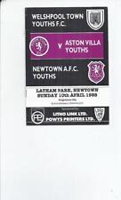 Teams A-B Aston Villa Under 18s/ 21s Football Programmes