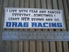 Trascinare Racing Adesivo Decalcomania per TOOLBOX AUTO BICI ETC STRISCIA NN. Quarter Mile divertente
