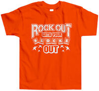 Rock Out With Your Blocks Out Toddler T-Shirt Tee Funny Humor Toys Boy Girl Play