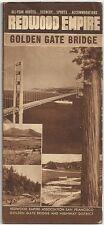 Circa 1940 brochure - Redwood Empire - Golden Gate Bridge