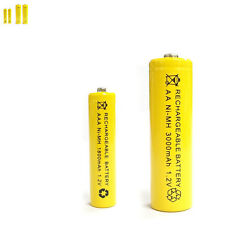 2 AAA 2 AA 1800mAh 3000mAh Ni-MH rechargeable battery Solar Light MP3 Yellow
