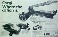 1968 Corgi Diecast Toy Cars/Fire Ladder Truck~Ford Mustang Fastback Print AD