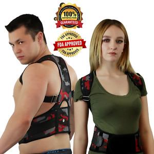 Posture Corrector Support Magnetic Lumbar Back Shoulder Brace Belt For Men Women