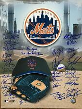 1986 New York Mets 16X20 Signed by 35 Members