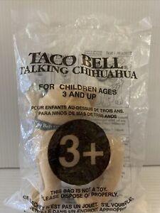 "1998 Taco Bell Chihuahua Plush Talking Dog ""!YO QUIERO TACO BELL!"" Applause NEW!"