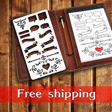 bullet journal stencil, planner stencil, pochoir bullet journal, journal stencil
