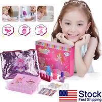 9PCS Pretend Play Cosmetic Makeup Toy Set Kit for Girls Kids Beauty Salon Toys