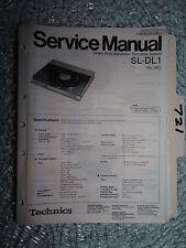 Technics SL-dl1 service manual original repair book stereo turntable system