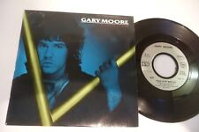 """GARY MOORE 45T FRIDAY ON MY MIND. 7"""" FRENCH PRESS PROMO STAMP EMBOSSED."""