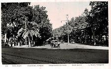 RPPC,Malaga,Spain.Paseo de Parque,Old Cars,Roisin Photo,c.1930s