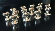 14 Card Holder Heart Silver Plated Place Table Card Sign Holders Wedding Dinner