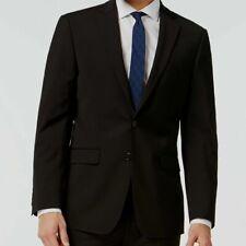 $605 Calvin Klein Men Extreme Slim X Fit Wool Sport Coat Black Jacket Blazer 46R