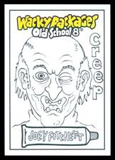 2019 TOPPS WACKY PACKAGES OLD SCHOOL 8 CREEP JOEY FITCHETT SKETCH 1/1