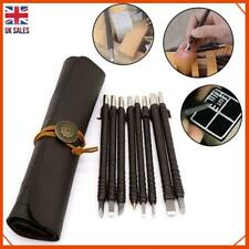 8X Steel Gravers Chisel Stone Seal Craft Wood hand Carving Engraving Knife Tools