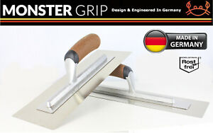 "MonsterGrip SuperFlex Plastering/Finishing Trowel,Flexi 0.3mm Blade14""x5"" German"