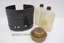 Swedish Army Meth Burner Stove + Fuel Bottle + Shield Triangia Field Cook Set