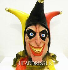 Creepy Jester Full Overhead Latex Rubber Mask Fancy Dress Halloween Costume